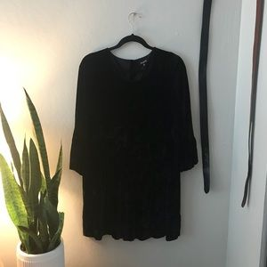 Madewell Velvet Button back Dress